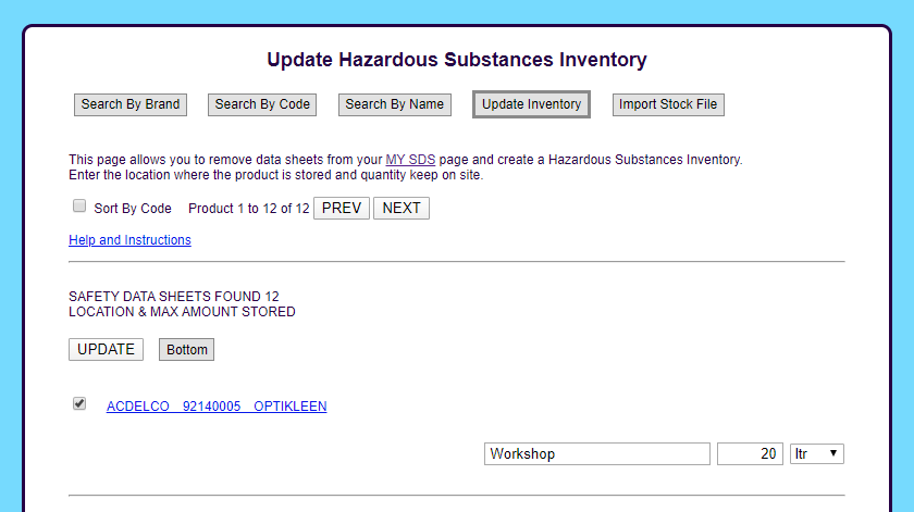 Create A Hazardous Substances Inventory - EsySDS