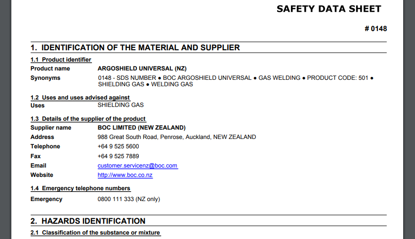 Safety Data Sheet PDF - EsySDS